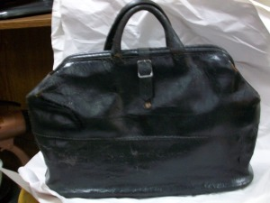 Leather bag for female doctor