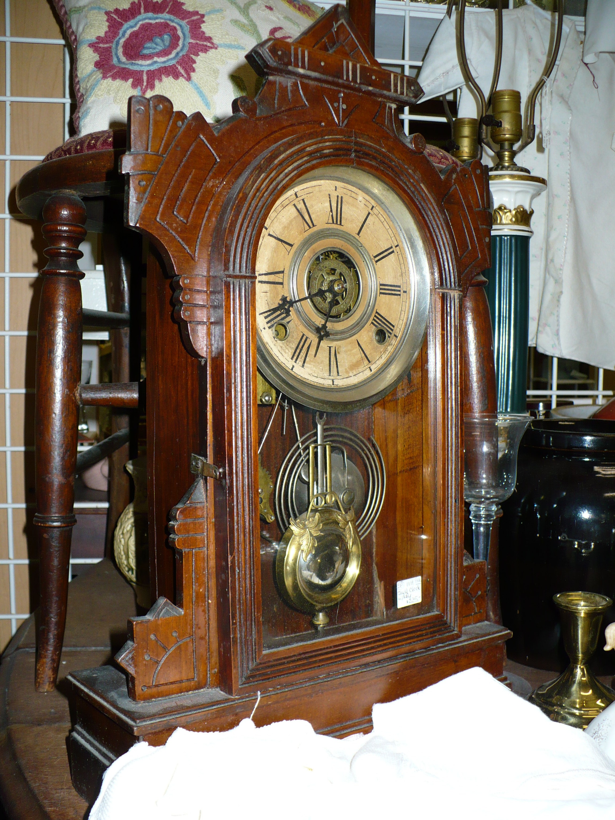 Booth 28 This Clock Runs Very Well And Chimes On Both The Hour Half With A Soft Tone It For Week Each Winding Would Look Great